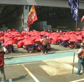 [현장연결] 현대중공업 파업 이틀째..노사갈등에 지역상권 '긴장'