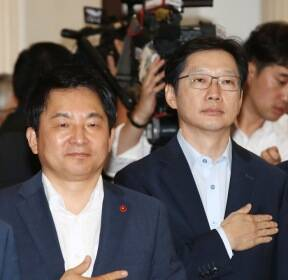 [포토뉴스]서울 올라온 두 도지사