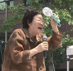 폭염도 막지 못한 할머니들의 외침..각별했던 8·15 수요집회