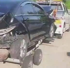 꽉 막힌 도로 위, 동시에 5중·8중 추돌..사고 잇따라