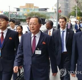 유엔총회에 참석한 리용호 북한 외무상