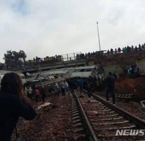 북아프리카 모로코서 기차 탈선..최소 6명 사망 수십명 부상