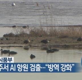 """경기 파주서 AI 항원 검출..""""방역 강화"""""""