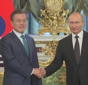 文 대통령, 푸틴과 네 번째 정상회담..신 남방정책 가속화
