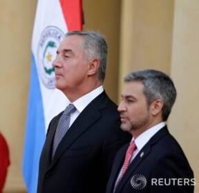 파라과이 공식 방문한 주카노비치 몬테네그로 대통령