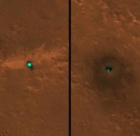 [우주를 보다] 우주서 포착된 인사이트..美 위성, 화성 상공서 촬영