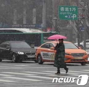 함박눈 내리는 서울