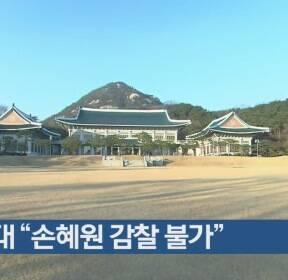 """청와대 """"손혜원 감찰 불가"""""""