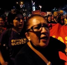 에콰도르서 성폭력 반대 시위