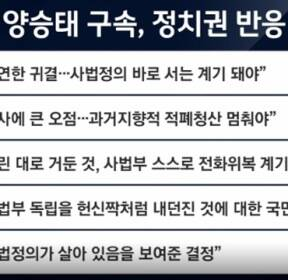 """허리 숙인 김명수 """"양승태 구속..참담하고 부끄럽다"""""""