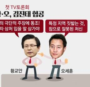 한국당 첫 TV토론회..약점 들추고 '난타전'