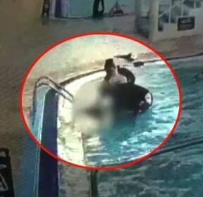 철제 계단에 팔 끼어 물속에 12분..초등생 의식불명