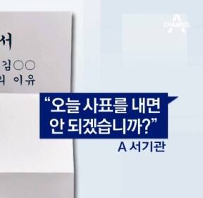 """[단독]""""박근혜 정부 사람이""""..10분 만에 사표받은 환경부"""