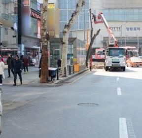 영등포역 40년 불법 노점상 기습 철거 '깨끗해진 거리' [사진in세상]