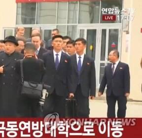김정은 맞이 예행연습 중인 러시아군 의장대