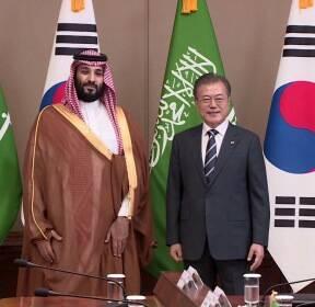 사우디 왕세자, '10조원' 투자 약속..총수들과 개별 면담