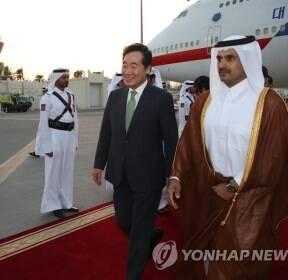카타르 도착한 이낙연 총리