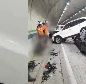 여수 취적 터널 추돌 사고..7명 경상