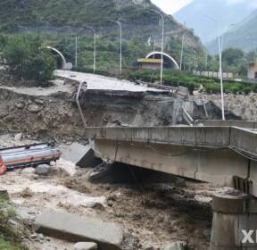 中 쓰촨성 산사태, 소방관 1명 사망