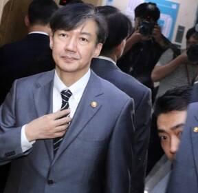 3일 연속 국회 찾은 조국, 4일 연속 삭발 이어가는 한국당