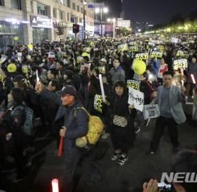 사법적폐청산을 위한 검찰개혁 촛불문화제 마무리 행진