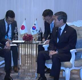 [현장영상] 지소미아 종료 '닷새 전'..한일 국방장관 태국서 회담