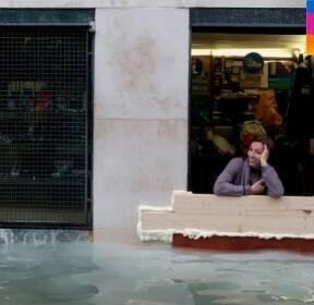 수상도시 베네치아, 또 물에 잠겨..피렌체도 홍수 위기