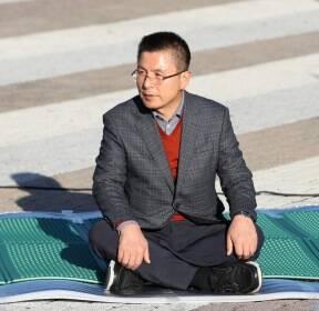 황교안 자유한국당 대표, 단식농성 돌입