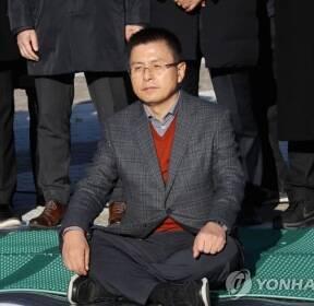 '단식 투쟁 시작'한 황교안 대표