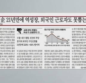 [조간브리핑] 중소기업 경제 난항..외국인 근로자 뽑기도 어려운 실정