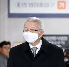 공판 출석하는 양승태 전 대법원장