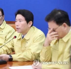 발언하는 민주당 이인영 원내대표
