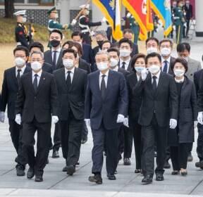 미래통합당 선대위 현충원 참배