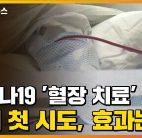 [자막뉴스] 코로나19 '혈장 치료' 국내 첫 시도, 효과는?