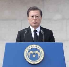 [서울포토] '제주 4·3사건' 추념사하는 문 대통령