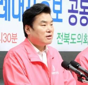 발언하는 미래한국당 원유철 총괄선대위원장
