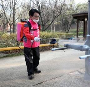 이성헌 후보, 코로나19 대응 방역 작업