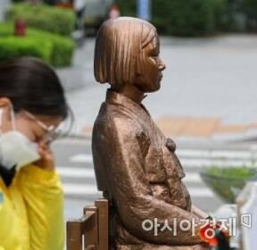 [포토]옛 일본대사관 앞에 놓인 소녀상