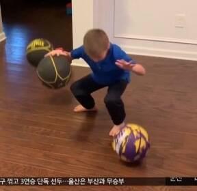 [이 시각 세계] 6살 농구 꿈나무의 개인기 대방출