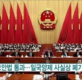 홍콩보안법 통과..일국양제 사실상 폐기 [월드 투데이]