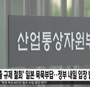 '수출 규제 철회' 일본 묵묵부답..정부 내일 입장 발표