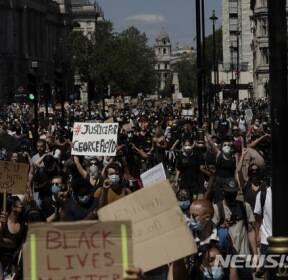 런던서도 미국發 인종차별 시위