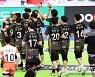 [포토] OK금융그룹 '접전 끝 승리'