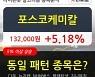 포스코케미칼, 상승중 전일대비 +5.18%.. 외국인 -7,331주 순매도 중