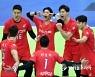 공격성공, 기뻐하는 한국전력 선수들.