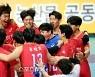 [포토] 한국전력, 3-0 완승 거둔 후 환호