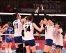 [올림픽포토]환호하는 여자배구대표팀