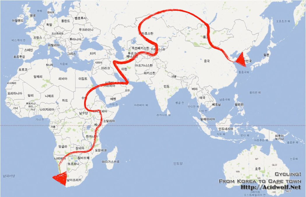 DP2와 함께한 한국에서 남아프리카 공화국까지 자전거 여행 - 유라시아 횡단편 1부