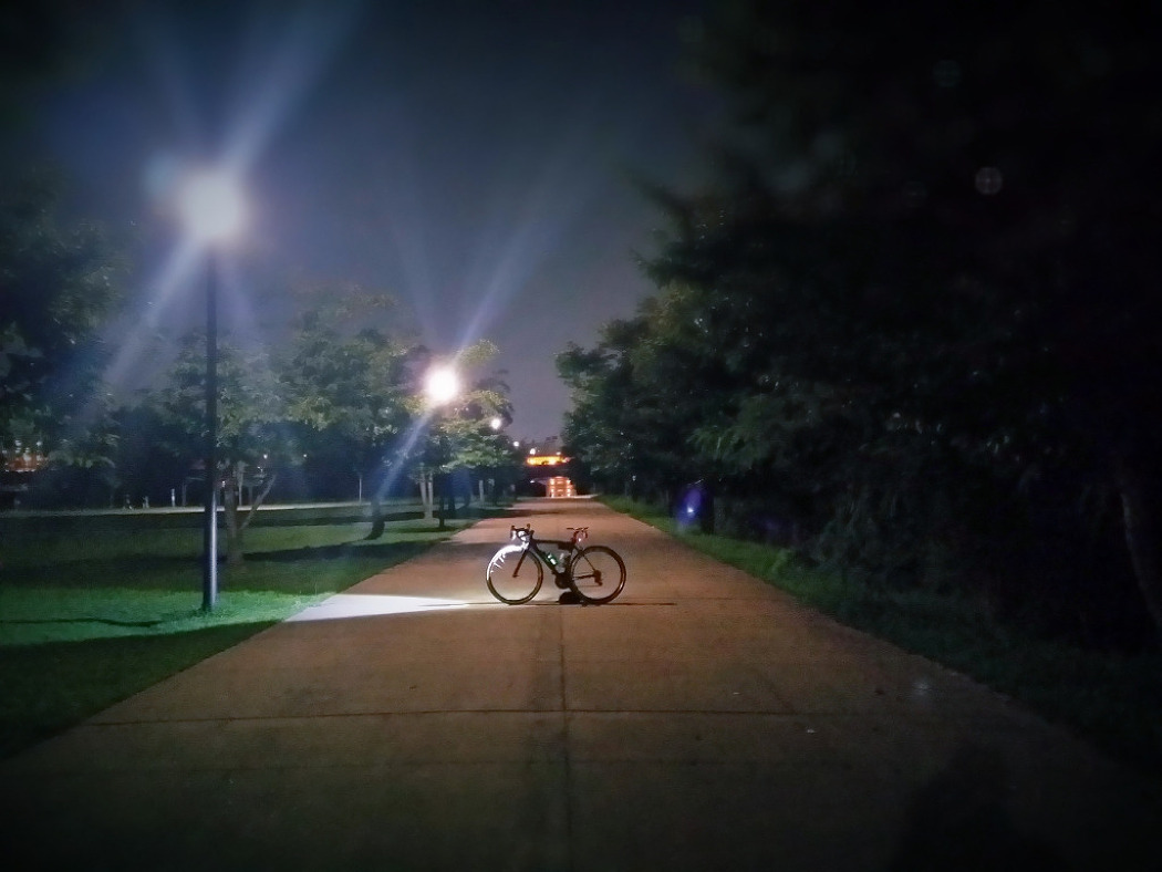 야간 라이딩.