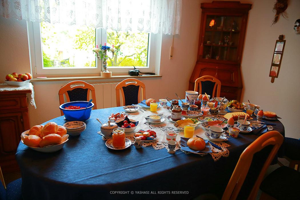 카렌할머니의 아침, 로덴부르크 부르크 정원 아침산책